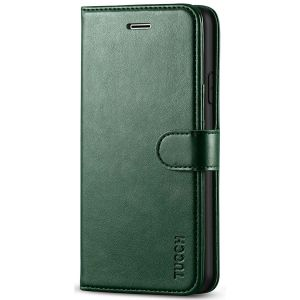 TUCCH iPhone 7 Wallet Case, iPhone 8 Case, Premium PU Leather Case - Midnight Green