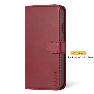 TUCCH iPhone 11 Pro Max Wallet Case for Women, iPhone 11 Pro Max Folio Case Thin - Red