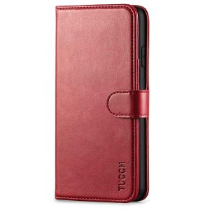 TUCCH iPhone XS Max Wallet Case, iPhone XS Max Leather Cover, Auto Sleep/Wake up, Magnet Clasp, Stand