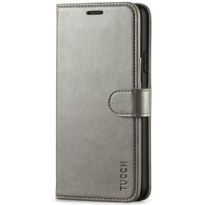 TUCCH iPhone XR Wallet Case - iPhone XR Leather Cover - Grey