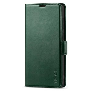 TUCCH SAMSUNG Galaxy Note20 Wallet Case, SAMSUNG Note20 5G Flip Cover Dual Clasp Tab-Midnight Green