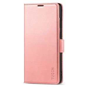 TUCCH SAMSUNG Galaxy Note20 Wallet Case, SAMSUNG Note20 5G Flip Cover Dual Clasp Tab-Rose Gold