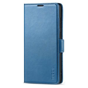 TUCCH SAMSUNG Galaxy Note20 Ultra Wallet Case, SAMSUNG Note20 Ultra 5G Flip Cover Dual Clasp Tab-Lake Blue