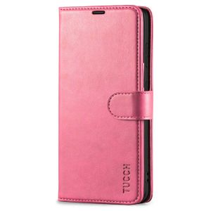 TUCCH SAMSUNG S21FE Wallet Case, SAMSUNG Galaxy S21 FE Case with Magnetic Clasp - Hot Pink