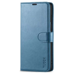 TUCCH SAMSUNG S21FE Wallet Case, SAMSUNG Galaxy S21 FE Case with Magnetic Clasp - Lake Blue