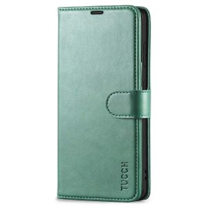 TUCCH SAMSUNG S21FE Wallet Case, SAMSUNG Galaxy S21 FE Case with Magnetic Clasp - Myrtle Green